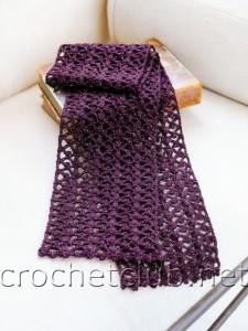 Фиалковый шарфик