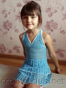 Детский вязаный сарафан