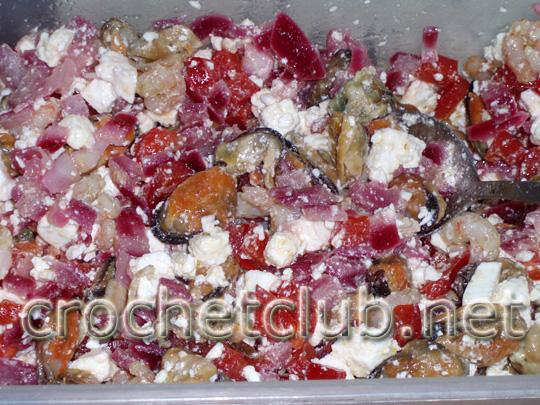 салат с мидиями и красным перцем 6