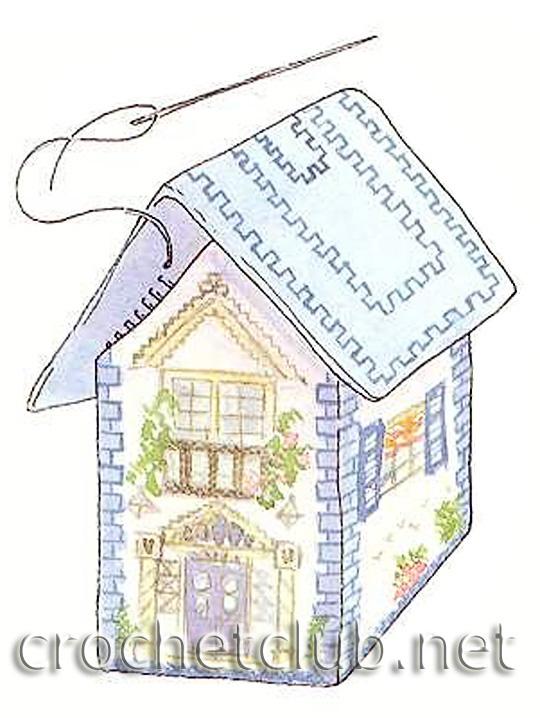 Вышивка схемы объемные домики 41