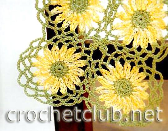 цветочный шарф 2