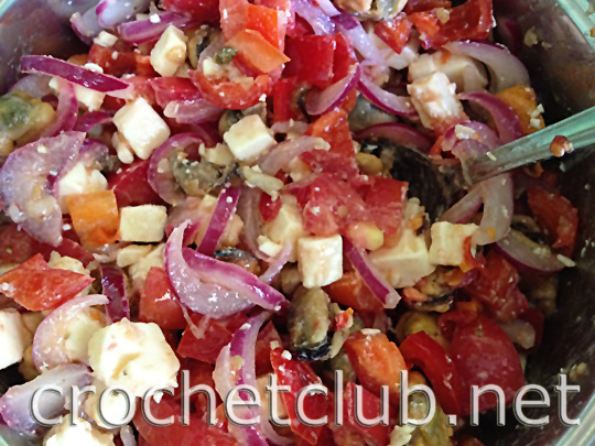 салат с мидиями огонек 9