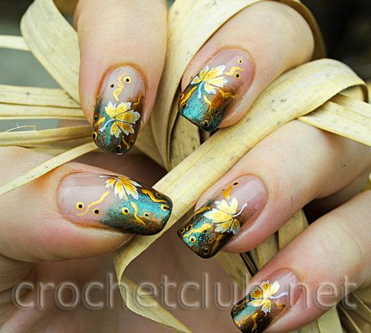осенний дизайн ногтей 2012: