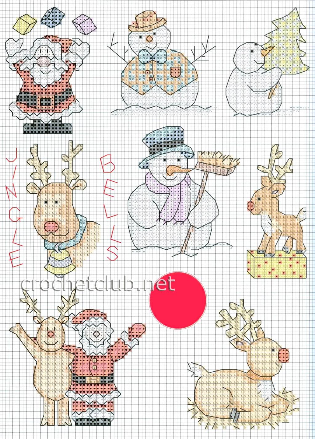 Вышивка крестом на открытку новогоднюю