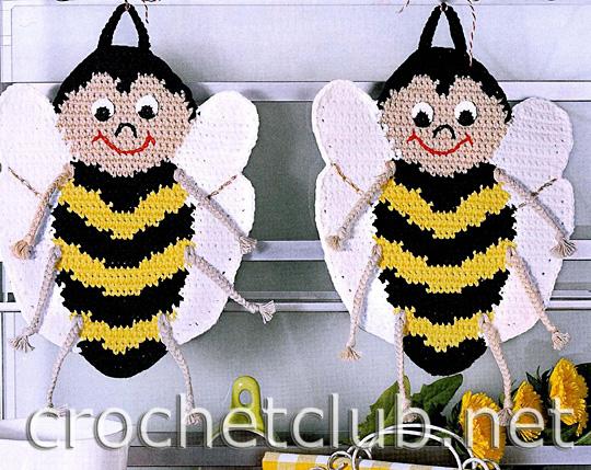 Схема прихватки пчёлка