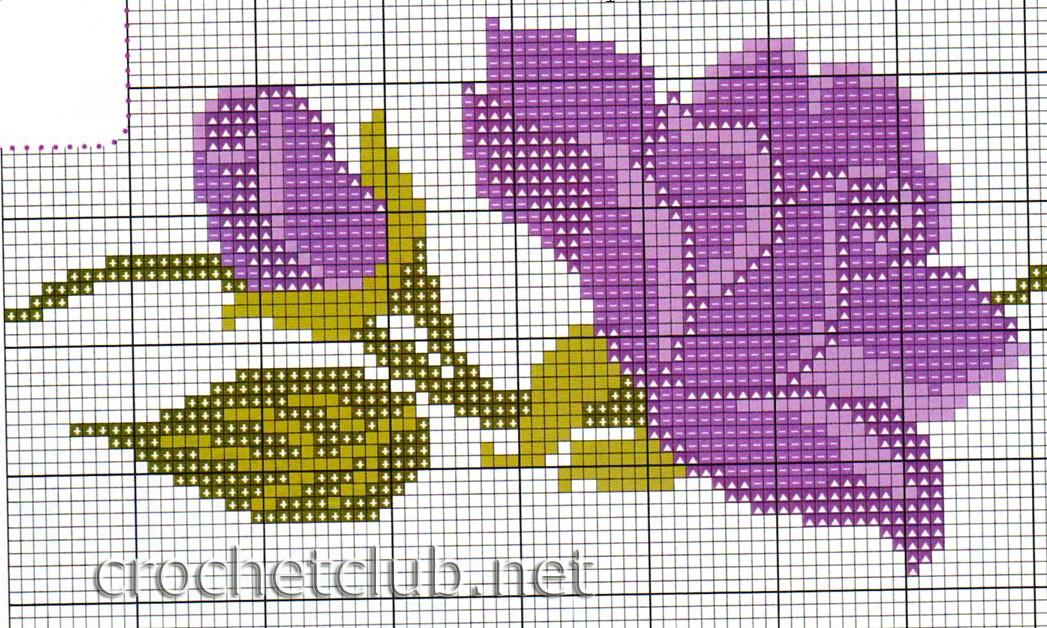 Схема для вышивания крестиком для полотенца
