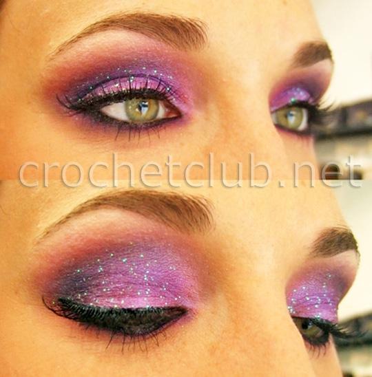 Стильный макияж в фиолетовых тонах