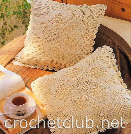 Как сделать ажурную подушку