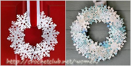 Бумажные снежинки к новому году 2016 своими